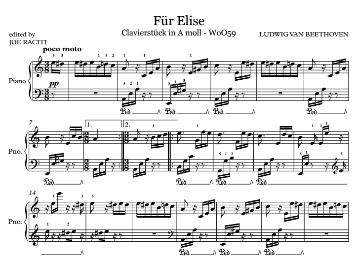 f r elise sheet music piano. Black Bedroom Furniture Sets. Home Design Ideas